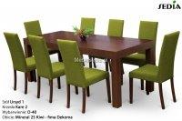 Stół Ursyd + 8 krzeseł Kare 2