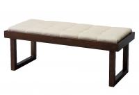 Ławka drewniana z tapicerowanym siedziskiem Pop