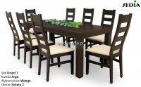 Stół Ursyd + 8 krzeseł Argo