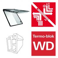 Okno dachowe Roto Designo i8 Comfort Okno uchylne, automatyczne i89P K2EF Okno z pakietem 3-szybowym Premium, szkło hartowane i laminowane, plastikowe Uw = 0,8, Termo-blok WD