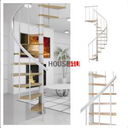 Spiralne schody Dolle Calgary - Ø 140 - 280,80 cm 11 stopni białe