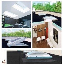 Fakro Okno do dachu płaskiego DMC-C P2 kopuła transparentna, Ug=1,1 W/m²K otwierane manualnie za pomoca drążka ZSD