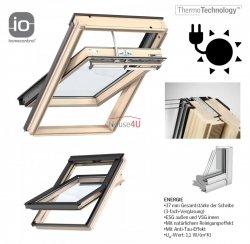 Okno Dachowe Velux INTEGRA GGL 306830 Uw = 1,1 Drewniane Okno obrotowe solarne sterowane elektrycznie superenergooszczędne, szkło hartowane i laminowane P2A
