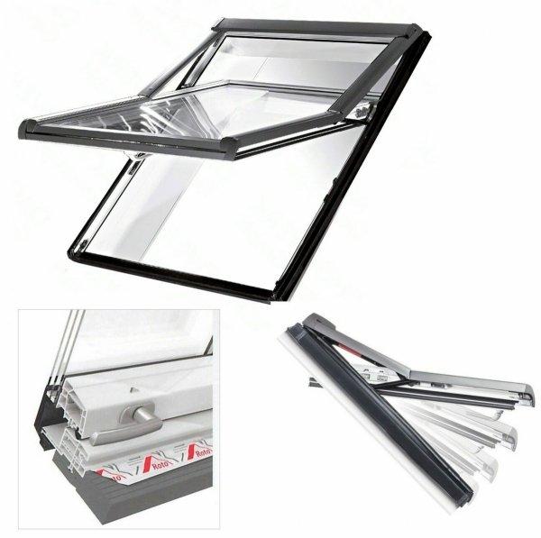 Okno Dachowe Roto Designo WDF R79 K WD Plastikowe Okno wysokoosiowe