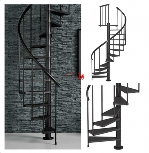 Spiralne schody Dolle Calgary - Ø 120 - 280,80 cm 11 stopni antracytowe