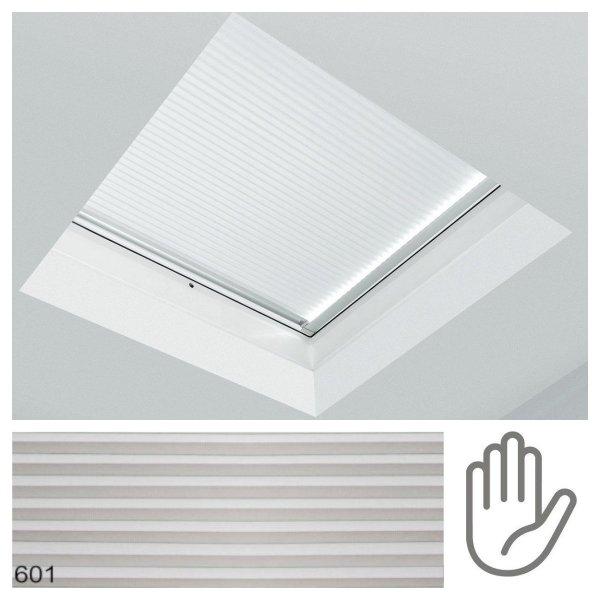 Fakro roleta plisowana do dachów płaskich APF/D grupa cenowa I, przeznaczone do okien typu F, C oraz G manualna, obsługiwana drążkiem ZSD