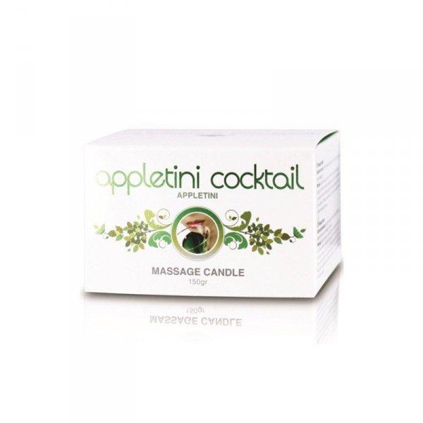 Appletini Cocktail Massage Candle Tin (Appletini) - Świeca do masażu