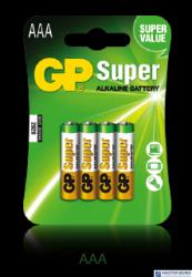 Bateria alkaliczna GP SUPER LR03/AAA (4szt) 1,5V GPPCA24AS013