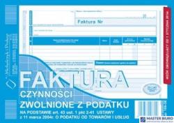 198-3E Faktura czynności zwolnione z podatku A5 (o+1k) MICHALCZYK&PROKOP