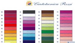 Bibuła karbowana, włoska gruba 180g niebieska 556 Cartotecnica Rossi