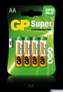 Bateria alkaliczna GP SUPER LR6/AA (4szt) 1,5V GPPCA15AS015
