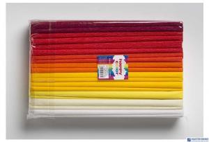 Bibuła 25x200cm mix kolory ciepłe (10szt) 8kol2521-MIX2 HAPPY COLOR