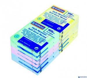 Bloczek samoprzylepny DONAU 76*76mm mix kolorów (6 żółtych, 2 niebieskie, 2 różowe, 2 zielone) 100kartek 7586012-99