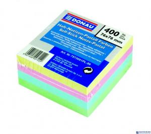 Bloczek samoprzylepny DONAU 76*76 mix kolorów pastel 400kartek 7573001PL