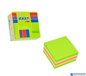 Bloczek samoprzylepny STICKN 51x51mm zielony-mix neon i pastel 21534
