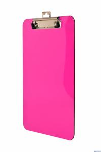 Deska A4 z klipem transparentna różowa BD641-R TETIS