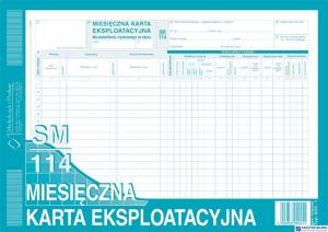 803-1 Miesięczna kart.eksplat* MKE MICHALCZYK I PROK