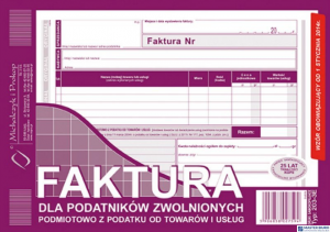203-3E Faktura dla podatników zwolnionych z VAT A5 (o+1k) MICHALCZYK