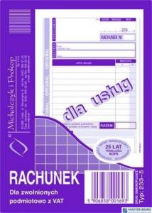 233-5 Rachu.A6 dla zw.z VAT(us MICHALCZYK I PROKOP