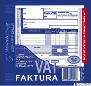 131-4U/E Faktura VAT 2/3 A5 z j jedna st.pod.MICHALCZYK I PROK