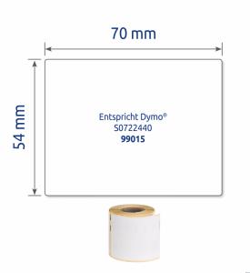 (WYCOFANE) Etykiety uniwersalne ASS0722440 54 x 70 160 et. w rolce do termodruku, trwałe, białe, Avery Zweckform (X)