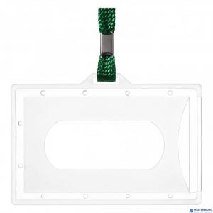 Identyfikator ARGO Holder z taśma zieloną wew.90×56mm