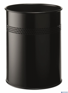 Kosz na śmieci metalowy czarny z perforacją 15l 330001 DURABLE 15/P30mm