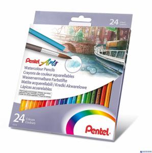 Kredki akwarelowe PENTEL 24 kolory CB9-24 CB9-24