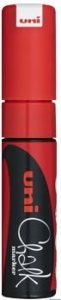 Marker kredowy UNI PWE-8K czerwony 8mm UNPWE8K/6CE
