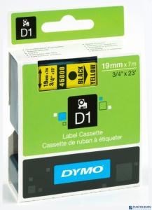Taśma 19mm/7mm czarny /żół. 45808 DYMO S0720880