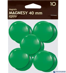 Magnesy 40mm GRAND zielone   (10)^ 130-1703
