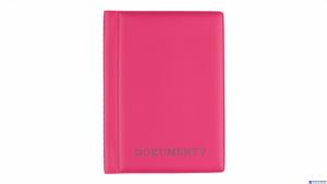 Okładka na dokumenty pink,1 BIURFOL KOD-04-03 duża