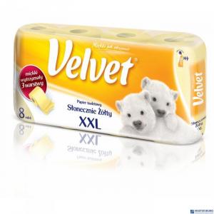 Papier toaletowy VELVET(8) żółty /XXL 3-wars.