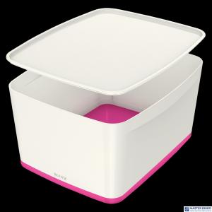 Pojemnik MyBOX duży z pokrywką biało-różowy LEITZ 52161023