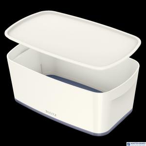 Pojemnik MyBOX mały z pokrywką biało-szary LEITZ 52291001