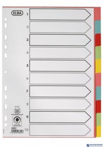 Przekładki ELBA A4 1-10 Mani 160g kolor 100204912