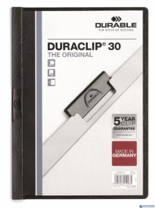 Skoroszyt z klipem A4 DURABLE DURACLIP 1-30 kartek czarny 220001