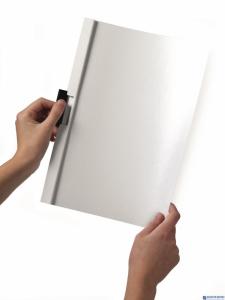 Skoroszyt z klipem A4 DURABLE DURACLIP 1-30 kartek biały 220002