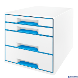 Pojemnik z 4 szufladami LEITZ WOW biało-niebieski 52132036