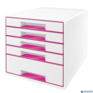 Pojemnik z 5 szufladami LEITZ WOW biało-różowy 52142023