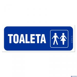 Tabliczka TOALETA DAMS/MĘS. naklejka