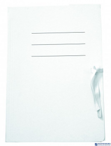 Teczka A4 z tasiemką do akt 300g/m2 biała UNIPAP