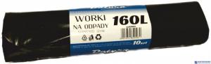 Worki na śmieci 160L 10szt/op DATURA standard 32mic LDPE