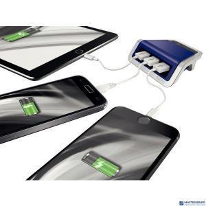 (WYCOFANE)Ładowarka LEITZ STYLE na 3 porty USB niebiesk 62070069 (X)