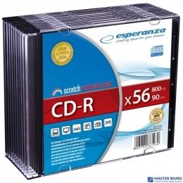 Płyty CD-R ESPERANZA SILVER SLIM CASE 10szt 2008