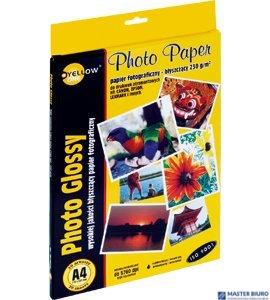 Papier fotograficzny błyszczący 4G230, 230 g/m, A4 20 arkuszy YELLOW ONE 150-1181