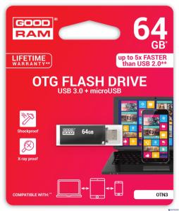 Pamięć USB GOODRAM 64GB OTN3 czarny USB 3.0 OTN3-0640K0R11