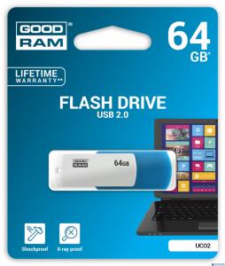 Pamięć USB GOODRAM 64GB UCO2 USB 2.0 miks kolorów UCO2-0640MXR11