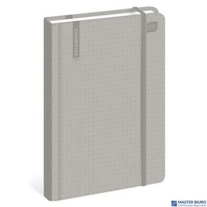 Kalendarz książkowy B6 192str. szary  INTERDRUK