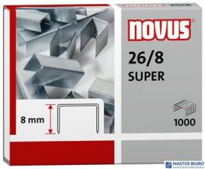 Zszywki 26/8 SUPER 1000sztuk NOVUS 040-0199